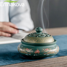 ERMAKOVA 4 стиля керамические Благовония горелки фарфор курильница буддизм держатель для ароматических палочек домашний Чайный домик Настольный Deocoration