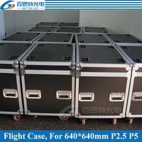 P2.5 P5 Die casting aluminum Rental LED display cabinet Flight Case, 1 Flight case Pack 6 pcs 640mmX640mm Cabinet