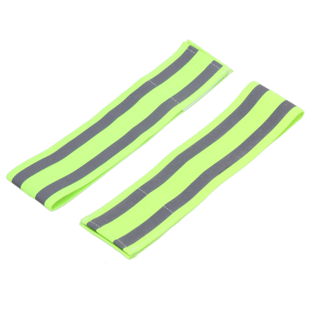 2 PCS Ultralight Safety Reflective Sport Arm Band Armband for Safety Night Running Riding Exercise Outdoor