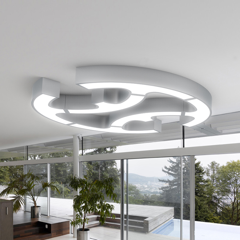 Modern Led Ceiling Lights For Indoor Lighting plafon led Cells shape Ceiling Lamp Fixture For Living Room Bedroom luminaria teto noosion modern led ceiling lamp for bedroom room black and white color with crystal plafon techo iluminacion lustre de plafond