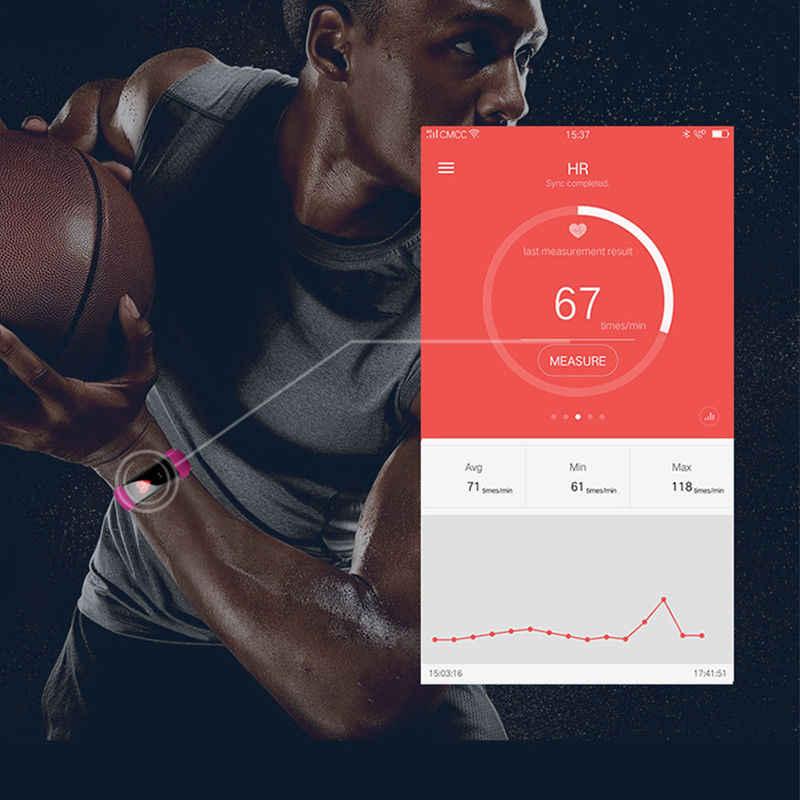 Tập thể hình Đồng Hồ Vòng Tay Thông Minh Thông Báo Redminder Đo Nhịp Tim Huyết Áp Đo Sức Đi Bộ Thể Thao Thể Thao Ban Nhạc dành cho Iphone Android