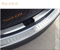 Car Accessories Rear Bumper Protector Tail Tailgate Trunk Guard Sill Plate Scuff Trim Fit For Mazda