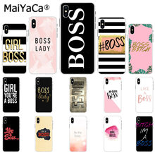 MaiYaCa Bitch mode on pink boos Newly Arrived Black Cell Phone Case for Apple iphone 11 pro 8 7 66S Plus X XS MAX 5S SE XR Cover(China)