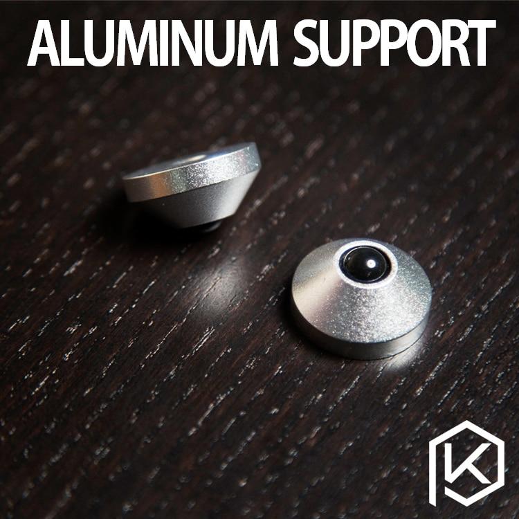 Anodized CNC Aluminum Cone Feet alu support 2x M4 8.5mm Screws silver red black gold(China)