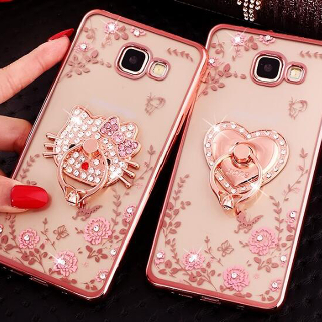 9bab21357d8 Luxury Slim Soft Phone Ring Cases For Samsung Galaxy A3 A5 A7 2017 Fundas  J3 2016 J5 J7 Prime TPU Capa Holder Stand Back Cover