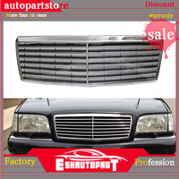 Chrome Front Hood Bumper Grill Grille for Mercedes for Benz W140 S Class 1994 1999 Bumpers Auto Replacement Parts