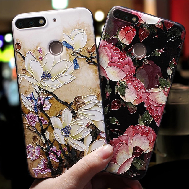 Soft 3D Emboss Case For <font><b>Huawei</b></font> P20 P30 P8 P9 P10 Mate 10 20 Lite Pro Nova 3 3i Capa For <font><b>Huawei</b></font> <font><b>Honor</b></font> <font><b>8X</b></font> 6A 7A Pro 9 Lite 10 Case image