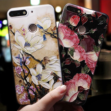 Soft 3D Emboss Case For Huawei P20 P30 P8 P9 P10 Mate 10 20 Lite Pro Nova 3 3i Capa For Huawei Honor 8X 6A 7A Pro 9 Lite 10 Case