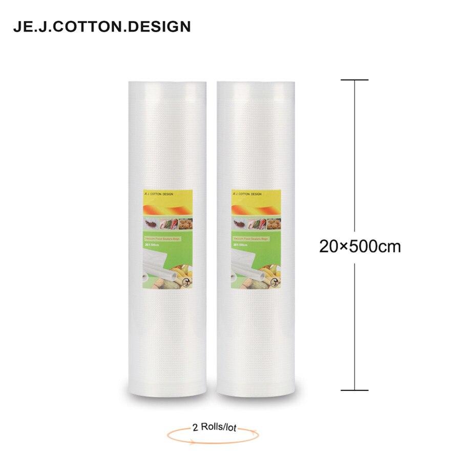 2 rolle 20*500 CM Vakuum Beutel für Lebensmittel Lagerung Kunststoff Wrapper Vakuum Packer Lebensmittel Tasche hohe dicke 20*500 cm für Verpackung Maschine