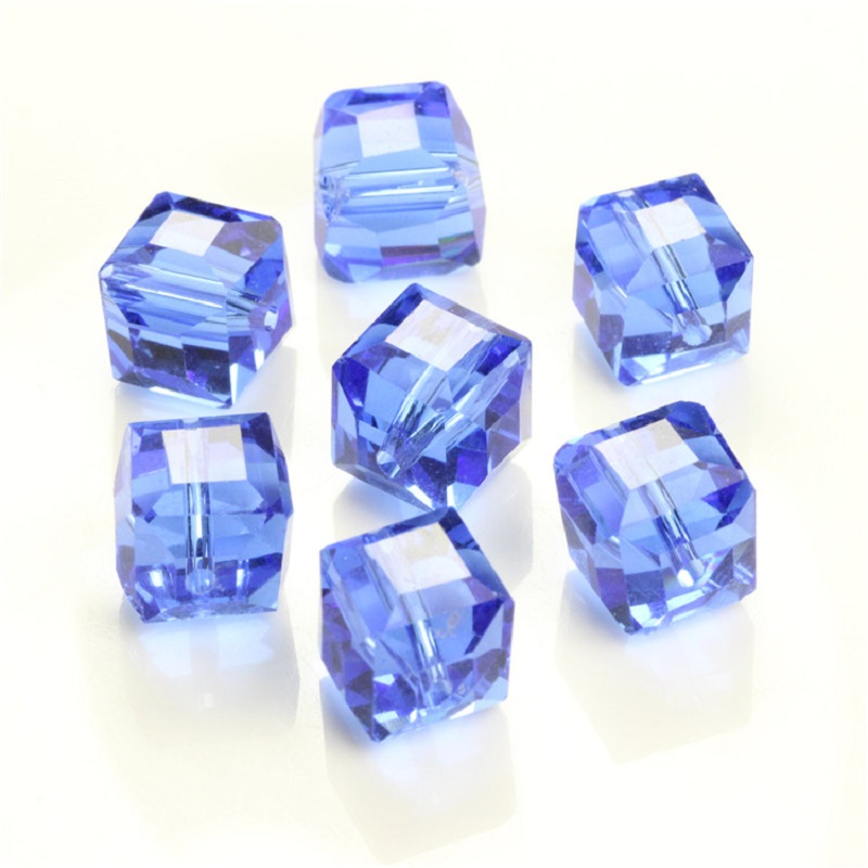20pcs/lot 10mm Clear White Square Crystal Beads For Jewelry Making DIY Jewellery