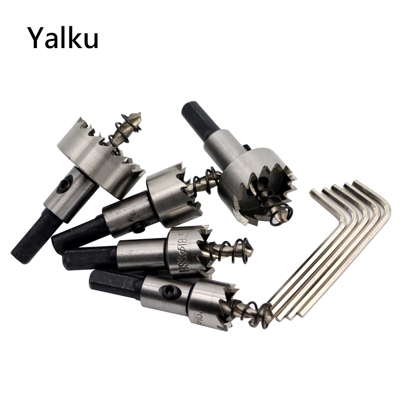 Yalku Power Tool Metal Drill Aluminium Plate Iron Plate Perforating Drill Bit Set Tool Kit Drill Bits 10pcs Hole Saw Cutter 1set home power tool 50mm concrete cement wall hole saw set drill bit connecting rod wrench power tools tile tool