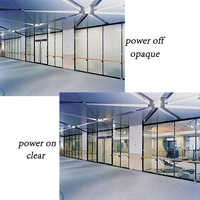 285mmx1045mm Smart PDLC Smart film Switchable Film White to Opaque Glass Tint Vinyl