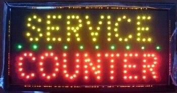 custom 25*48CM led service counter sign/Customer made led open sign /indoor usage led window display