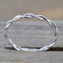Круглые Кольца для женщин, тонкое розовое золото, скручивающаяся веревка, обручальные кольца из меди, бижутерия