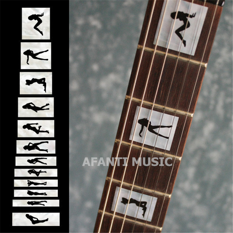 Afanti music Guitar Finger Board sticker / Shell sticker / Dance Girl Inlay (FPD-117) afanti music gib es335 style 4 strings bass guitar es335 b27
