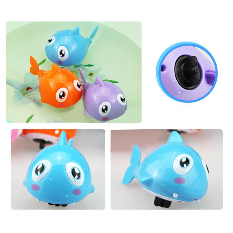 Cute Cartoon Funny Baby Bath Cute Toy Wind-Up Toy Swimming Animal Fish Plastic Pool Bath Toys Kids Gift Toy great