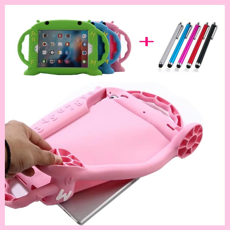 Safe Shockproof Kids Baby 3D Cute Soft silicone Rubber Cases Cover For Apple ipad Air 2 Air2 Case For Ipad 6 Coque Fundas cute rabbit silicone soft case