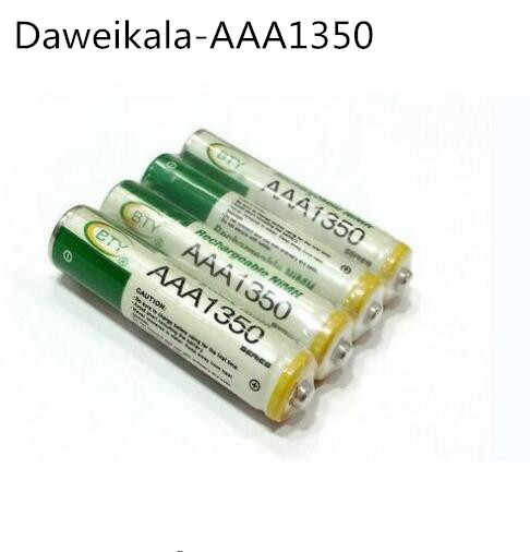 2~20pcs New AAA1350 battery 1800 mAh AAA Rechargeable battery NI-MH 3A 1.2 V aaa battery for Clocks, mice, computers, toys so on
