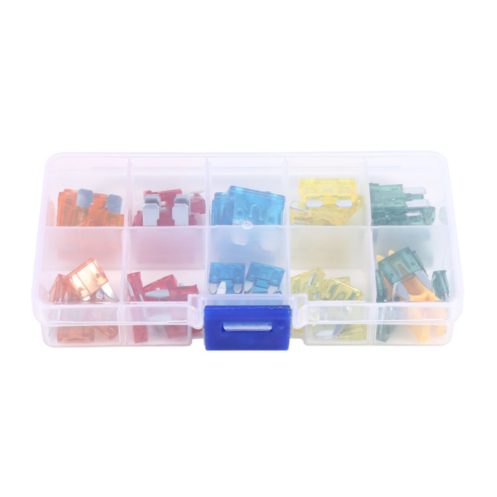 small resolution of 50pcs car auto standard and mini blade fuse box kit motorcycle suv boat truck automotive blade fuse assortment apm atm 5a 30a in fuses from automobiles
