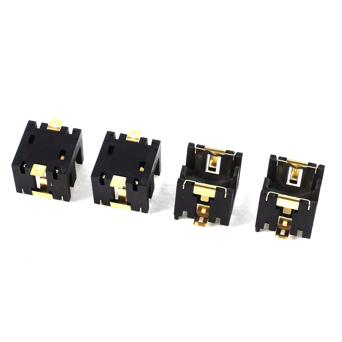 4 Pcs Black Plastic <font><b>Button</b></font> Coin <font><b>Cell</b></font> <font><b>Battery</b></font> Socket <font><b>Holder</b></font> for 2 x AG13/LR44