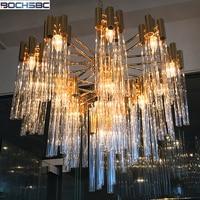 BOCHSBC European Modern New Design Luxury Glass Tube Lamp Dinning Room Pendant Lamp Glass Pendant Light Decoration Hanging Lamp