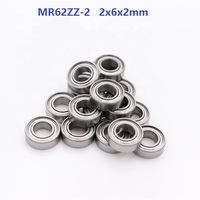 50pcs/100pcs/500pcs MR62ZZ 2 MR62 ZZ 2x6x2mm Miniature deep groove ball bearing double shielded 2*6*2mm
