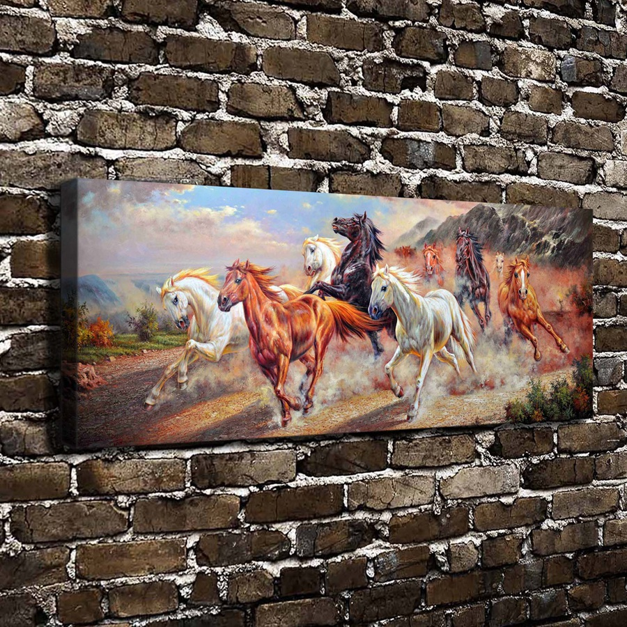 C_X446 Natural Scenery Animals Running Horses. HD Canvas Print Home decoration Living Room bedroom Wall pictures Art paintingC_X446 Natural Scenery Animals Running Horses. HD Canvas Print Home decoration Living Room bedroom Wall pictures Art painting