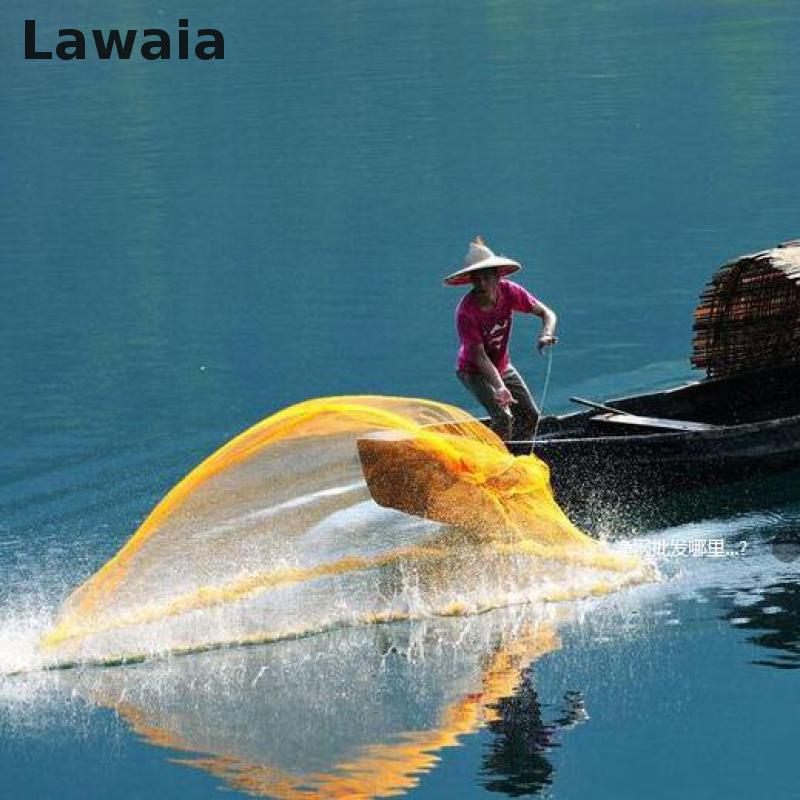 Lawaia He Hand Throw Cast Net, Tarpon Fishing Throw Fishing Net.mesh Diameter:94.5in Network Fishing-net Fishing-nets цена