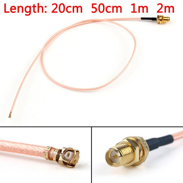 Areyourshop RG178 Cable RP.SMA Female Plug Bulkhead To IPX U.FL Coax Pigtail 20cm 50cm 1m 2m Wholesale Connector Plug Jack
