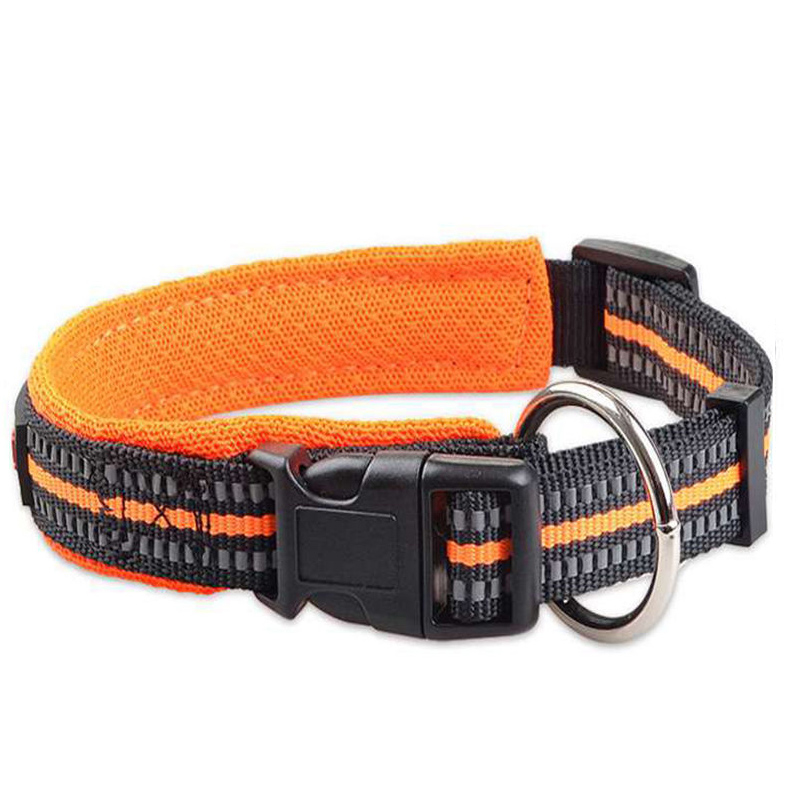 Fashion Pet Nylon Dog Collar Soft Padded Small Large Dog Nylon Collar For Dogs Cats Reflective Buckle Night Safety Pet Supplies