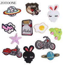 ZOTOONE Motorcycle Patches Planet Stickers Diy Iron on Clothes Heat Transfer Applique Embroidered Applications Cloth Fabric G цена