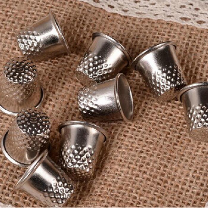 3 шт Thimbles портновский пошив инструмент Серебряный металлический захват защита для пальцев штифт игла ручная швейная машинка аксессуар SDF-SHI