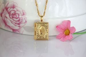 Image 2 - Fashion New Gold Color Islam Allah Muslim Necklace Quran Koran Book Loket Box Pendant With Chain Muhammad Religion Jewelry Gift
