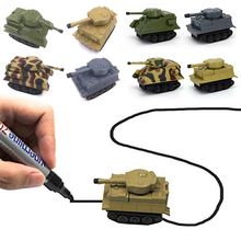 100% Brand New and High Quality Children 's Toys Pen Inductive Creative Follow Any Drawn Line Tanks Cars(China)
