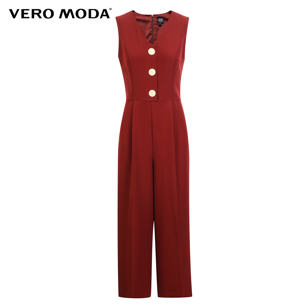 Vero Moda spring fashionable V-collar loose-leg cropped Jumpsuits for women |318144507 5