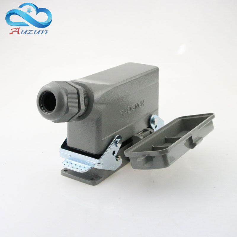 Heavy-duty connector H24B - HE - 024-1 with cover 24 core base line measure double current 16 a voltage 500 v