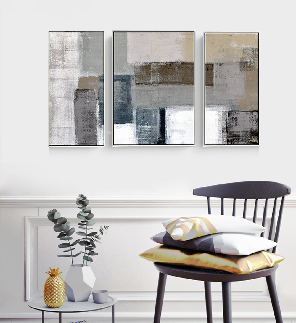 Cuadros decoracion abstracta salon quadros de parede large wall ...