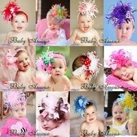 Hooyi Christmas Gift Baby Girl Headbands Children Hairband Kids Elastic Hair bands Tiaras Barrettes Accessories 1-10years H4