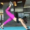 Горячая Продажа! Секси Фитнес-Капри Мода Mesh Сращивание Эластичный Тонкий Спортивные Леггинсы Тренировки Сексуальная Одежда Для Женщин