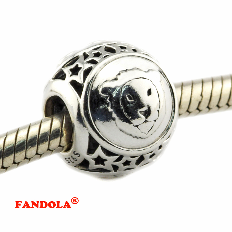 DIY Fits for Pandora Bracelets Leo Star Sign Beads 100% 925 Sterling Silver Jewelry Charms for Women Free Shipping