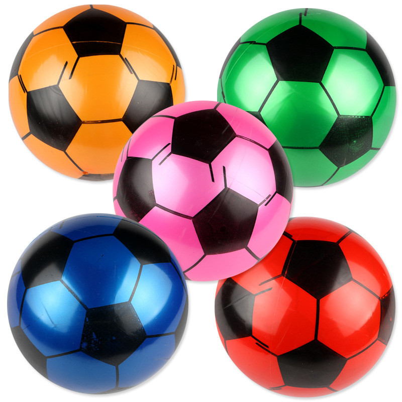 Creative Inflatable Football Ball Soft Bouncy Rubber Ball Beach Pool Play Early Education Toys Gifts For Children Kids Baby