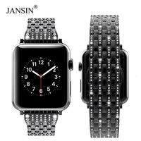 Luxury diamond watch strap For Apple Watch 38mm 42mm 40mm 44mm Stainless Steel Strap women Watch Band for Apple Watch 4 3 2 1