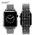 Luxus diamant armband Für Apple Uhr 38mm 42mm 40mm 44mm Edelstahl Strap frauen Uhr band für Apple Uhr 4 3 2 1