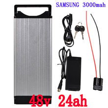 48 В 54,6 Вт batttery 48 В 24AH Электрический велосипед батарея 48 В 25ah литиевая батарея ячейка samsung ячейка с 30A BMS + 1000 В 2A зарядное устройство