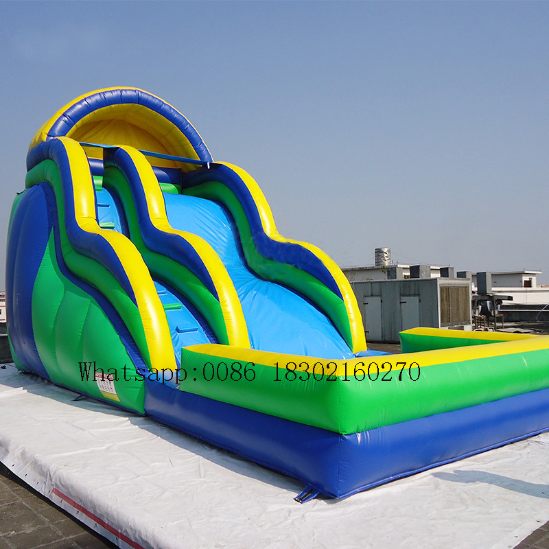 US $1250 0 |Commercial inflatable water slide in slide Inflatable water  pool slide inflatable bouncer bouncers for kids-in Slides from Sports &