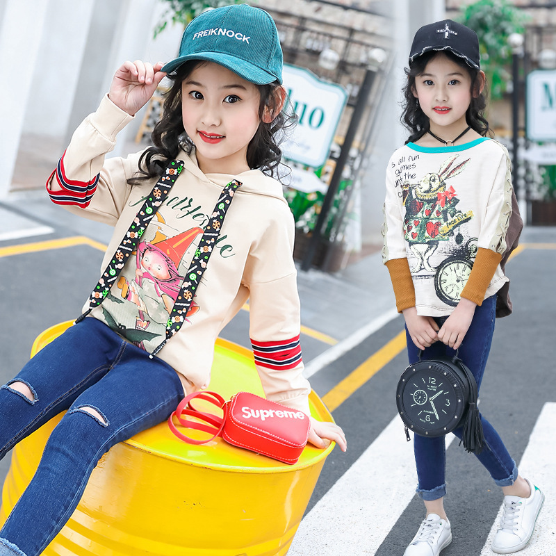 2008 New Spring Dress Girls'Korean Version Fashion Cartoon Girls' and Girls'T-shirts