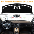 2016 Car Styling Sombra Protectora Dashboard Mat Cojín Pad Photophobism Alfombra Interior Para Porsche Panamera 2012-2014
