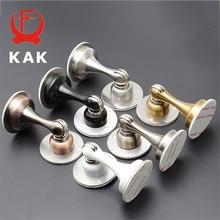 KAK Stainless Steel Magnetic Door Stopper Sticker Hidden Holders Catch Floor Wall Mounted Nail-free Doorstop Hardware