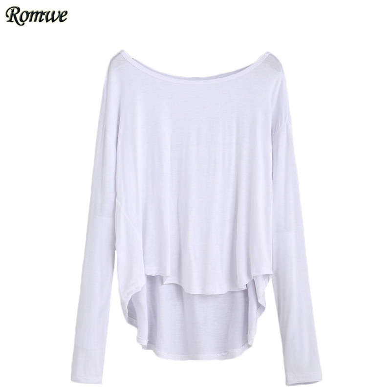 Online Buy Wholesale plain white long sleeve shirts for woman from ...