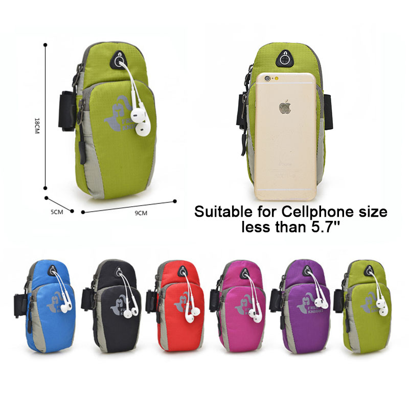 running - FreeKnight Sport Arm Running Bag GYM Bag Jogging Phone Outdoor Waterproof Nylon Cell Holder For Hiking Running Accessories WX004